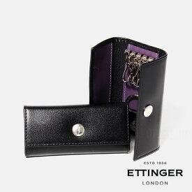 エッティンガー キーケース KEY CASE WITH 4 HOOKS + VALET ST840AJR ETTINGER