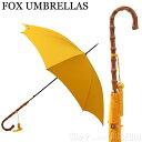 フォックスアンブレラ FOX UMBRELLAS レディース 雨傘 雨具 高級長傘 WL4/Yellow 120 WHANGHEE CANE CROOK HANDLE ワ…