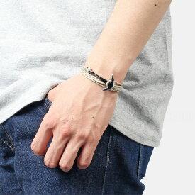 ミアンサイ Miansai マイアンサイ メンズ ブレスレット Bracelet Anchor on Cotton Rope Polished Silver / Gray