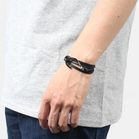 ミアンサイ Miansai マイアンサイ メンズ ブレスレット Bracelet Hook on Leather Bracelet Silver - Black