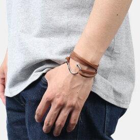 ミアンサイ Miansai マイアンサイ メンズ ブレスレット Bracelet Hook on Leather Bracelet Silver - Brown