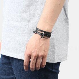 ミアンサイ Miansai マイアンサイ メンズ ブレスレット Bracelet Anchor on Leather Bracelet Silver - Black