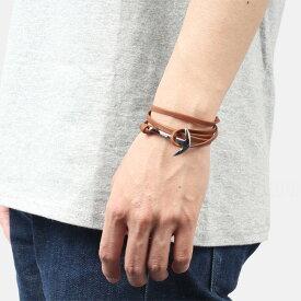 ミアンサイ Miansai マイアンサイ メンズ ブレスレット Bracelet Anchor on Leather Bracelet Silver - Brown