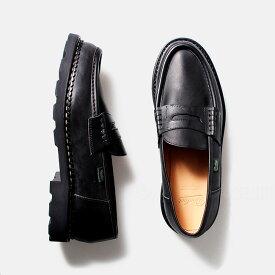 パラブーツ Paraboot ランス REIMS ローファー レザーシューズ 革靴 ノワール Lisse Noir ブラック BLACK 99412【送料無料】
