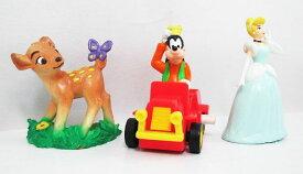 【ディズニー/disney】『バンビ&シンデレラ&グーフィーミニカー フィギュア3個セット』 アメキャラ・コレクション