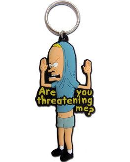 ◎ 橡胶键环(圆锥对开纸)海狸&球棒脑袋·键链子·钥匙圈·糖果人物·美国杂货、糖果杂七杂八的美国的杂货
