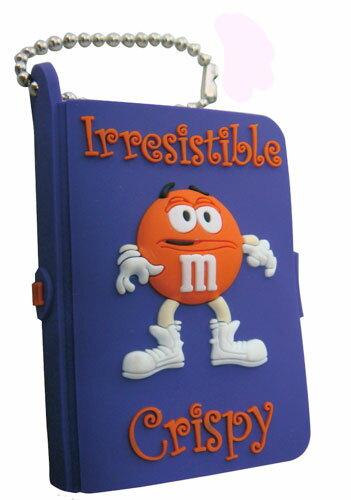 ◎【M&M's/エムアンドエムズ】 ミニミニノート ボールチェーン☆ 【Irresistible Crispy(オレンジ)】