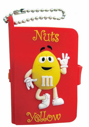 ◎【M&M's/エムアンドエムズ】 ミニミニノート ボールチェーン☆ 【Nuts Yellow(黄)】