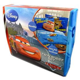 ◎【 Disney Cars / カーズ 】 TWIN SHEET SET(ツインシーツセット) 『マックイーン&メーター』ディズニー・ピクサー・アメキャラ・アメリカ雑貨・アメリカン雑貨・日用雑貨
