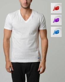 NB new balance メンズTシャツ 【Vネック/ホワイト(RE/PU/BL)】3pack ニューバランス Mens 肌着 インナー ファッション