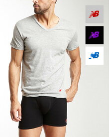 NB new balance メンズTシャツ 【Vネック】3pack (BK+PU&GY+RD&WH+BL) ニューバランス Mens 肌着 インナー ファッション