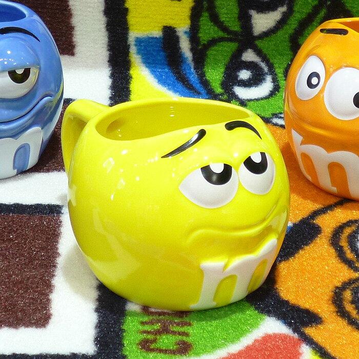 ◎【 m&m's / エムアンドエムズ】 フィギュラル マグカップ 【イエロー】 陶器製・アメキャラ・企業キャラクター