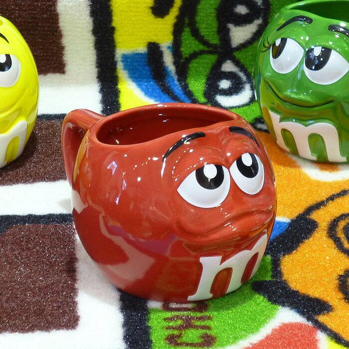 ◎【 m&m's / エムアンドエムズ】フィギュラル マグカップ 【レッド】 陶器製・アメキャラ・企業キャラクター