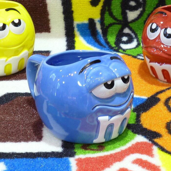 ◎【 m&m's / エムアンドエムズ】フィギュラル マグカップ 【ブルー】 陶器製・アメキャラ・企業キャラクター