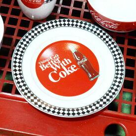 ◎【Coca・Cola/コカ・コーラ】 セラミックプレート・お皿『60s Diner』(20cm)コカコーラ・Coke アメリカ雑貨・アメ雑・アメリカン雑貨・Coca-Cola・コカコーラグッズ