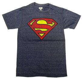 【DC】大人・メンズ Tシャツ 『ロゴ・擦れ (NV)/Sサイズ』 スーパーマンvsバットマン・batman・ロゴ・アメコミ・アメキャラ・ヒーロー・DCコミック