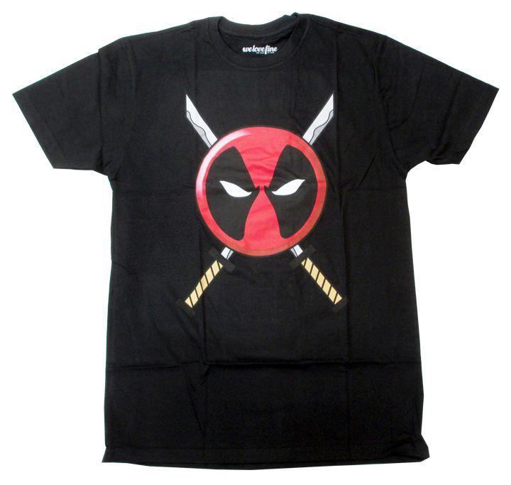 【デッドプール/DEADPOOL】大人・メンズ Tシャツ『フィエスロゴ&刀(BK)』MARVEL・マーベル・アメキャラ・アメコミ