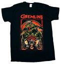 【グレムリン/GREMLiNS】 大人・メンズ Tシャツ『ストライプ・フレーム(BK)』 ワーナー・アメキャラ