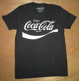 Coca・Cola コカ・コーラ大人・メンズ TシャツEnjoy Sサイズ(BK) コカコーラ コカコーラグッズ Coca-Cola Coke アメリカン雑貨 アメリカ雑貨 カンパニーグッズ アドバタイジング レトロアメリカン アメT アメ雑
