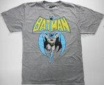 【バットマン/Batman】大人・レディースTシャツ『コミック/Mサイズ(チャコールGY)』DC・アメコミ・アメキャラ・ヒーロー・DCコミック