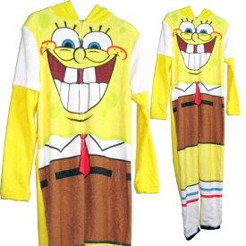 スポンジボブ Sponge Bob大人・メンズユニオンスーツ/Sサイズ仮装 アメキャラ アメリカン雑貨 ニコロデオン 着ぐるみ コスプレ コスチューム アメ雑