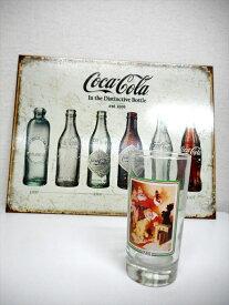 【コカコーラ/Coca Cola】1981年 グラス『クリスマス』カンパニーグッズ・コレクション 記念品 アメリカ雑貨 アメ雑