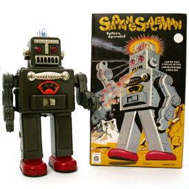 スモーキングロボットスペースマン Smoking Space Man 【ダークグレー】 ブリキ