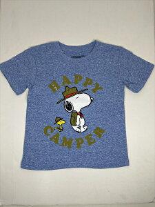〇【 スヌーピー SNOOPY 】『 HAPPY CAMPER 3T ( BL ) 』キッズ Tシャツ キャラクターTシャツ ピーナッツ peanuts アメキャラ 子供 アメリカ直輸入 ウッドストック チャーリーブラウン ジュニア