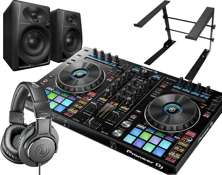 【選べる特典付き】PIONEER DJコントローラーセット/ DDJ-RR + ATH-M20X + DM-40 + PCスタンド【送料無料】
