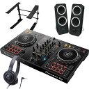 Pioneer パイオニア DJコントローラー DDJ-400 + ヘッドホン ATH-S100 + スピーカー Z200 + スタンド LTSTAND 買い足…
