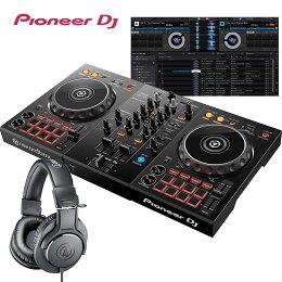 PioneerパイオニアDJコントローラーDDJ-400+ヘッドホンATH-S100+スピーカーZ200+スタンドLTSTAND買い足し不要DJスタートセットrekordboxdj対応【送料無料】
