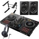 Pioneer パイオニア DJコントローラー DDJ-400 + ヘッドホン ATH-S100 + スピーカー DM-40 + スタンド LTSTAND 買い足し不要 DJスター…