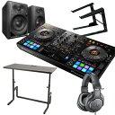 PIONEER DJコントローラー DDJ-800 + ヘッドホン ATH-M20 + スピーカー DM40 + PCスタンド + DJテーブル 買い足し不要 DJセット rekor…
