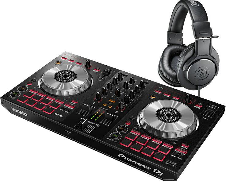 PIONEER DJコントローラーセット/DDJ-SB3 + ATH-M20X【送料無料】