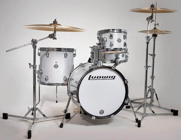 """Ludwig(ラディック)ブレイクビーツ ドラムセット LC179X028 BREAKBEATS OUTFIT WHITE SPARKLE AHIMIR """"?UESTLOVE"""" THOMPSON 小口径"""