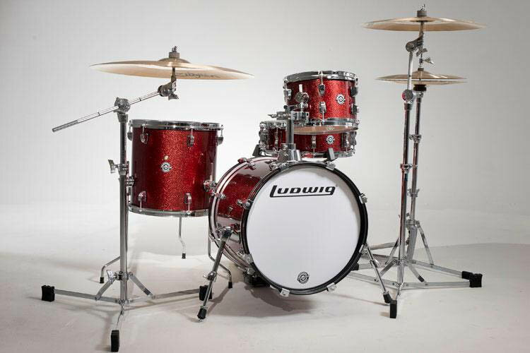 """Ludwig(ラディック)ブレイクビーツ ドラムセット LC179X025 BREAKBEATS OUTFIT WINE RED SPARKLE AHIMIR """"?UESTLOVE"""" THOMPSON 小口径セット"""