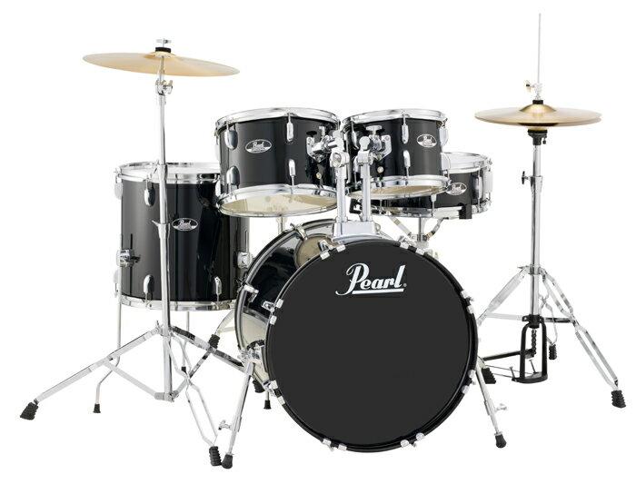"""送料無料!! Pearl(パール)ドラムセット コンパクトキット ROADSHOW COMPACT KIT 20"""",10,12""""14"""",SD14"""" ドラムマットサービス!! RS505C/C #31 JET BLACK"""