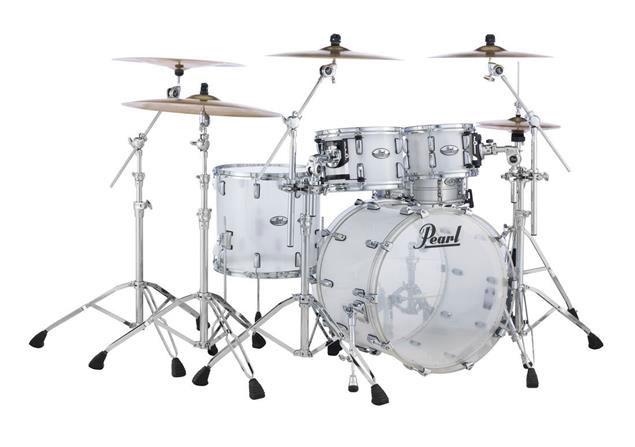 """送料無料!! Pearl(パール)ドラムセット CRB524P/C 730 Ultra Clear Crystal Beat 4点Set 22"""" 10"""" 12"""" 16"""" DrumLiteつき アクリルドラム"""