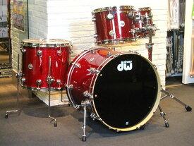 """送料無料!!dw(ディーダブリュー)ドラムセット Collector's Series 4点Set Ruby Glass 22"""" 12"""" 13"""" 16"""" コレクターズシリーズ タムスタンド付属 / お取り寄せ"""