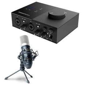 Native Instruments オーディオインターフェイス KOMPLETE AUDIO 2 + コンデンサーマイクMPM1000 セット
