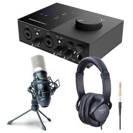 《 レビューでプレゼント特典 》Native Instruments オーディオインターフェイス KOMPLETE AUDIO 2 + コンデンサーマイクMPM1000 + ヘッドホン RH-5 セット
