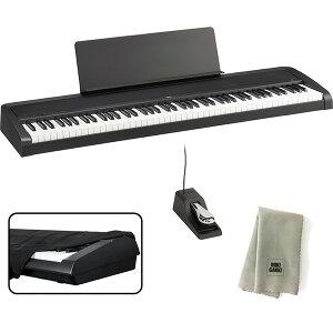 KORG 電子ピアノ B2 BK 88鍵 ブラック + ダストカバー + クリーニングクロス