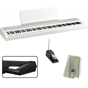 KORG 電子ピアノ B2 WH 88鍵 ホワイト + ダストカバー + クリーニングクロス