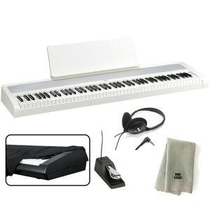KORG 電子ピアノ B2 WH 88鍵 ホワイト + ヘッドホン + ダストカバー + クリーニングクロス