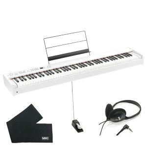 KORG 電子ピアノ D1 WH ホワイト (88鍵) + ヘッドホン + 鍵盤カバー