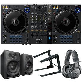 Pioneer DJコントローラー DDJ-FLX6 + ヘッドホン ATH-M20X + PCスタンド + スピーカー DM40 セット (rekordbox・Serato DJ Pro対応)