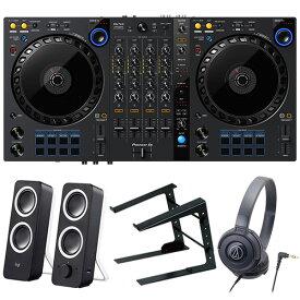Pioneer DJコントローラー DDJ-FLX6 + ヘッドホン + PCスタンド + スピーカー セット (rekordbox・Serato DJ Pro対応)