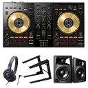 《即出荷可能》Pioneer DJ DJコントローラー DDJ-SB3-N + ヘッドホン + スピーカー + PCスタンド セット 送料無料