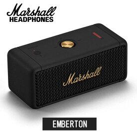Marshall マーシャル EMBERTON スピーカー (BLACK & BRASS) Bluetooth5.0対応 軽量700g 《国内正規品》