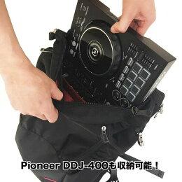DJバッグパックリュック(DDJ-400/DDJ-RB/DDJ-SB3/DDJ-WEGO4/DDJ-200収納可能)(パソコン15インチ収納可能)/PLUS-01【送料無料】